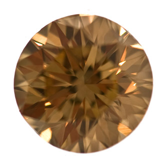 Fancy Yellowish Brown Diamond, Round, 1.03 carat, VS1