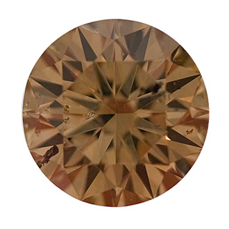 Fancy Yellowish Brown Diamond, Round, 2.65 carat