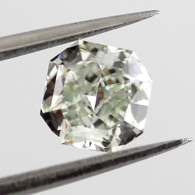 Fancy Yellowish Green Diamond, Radiant, 0.58 carat, VS2