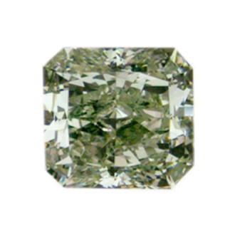Fancy Yellowish green Diamond, Radiant, 1.99 carat, SI1