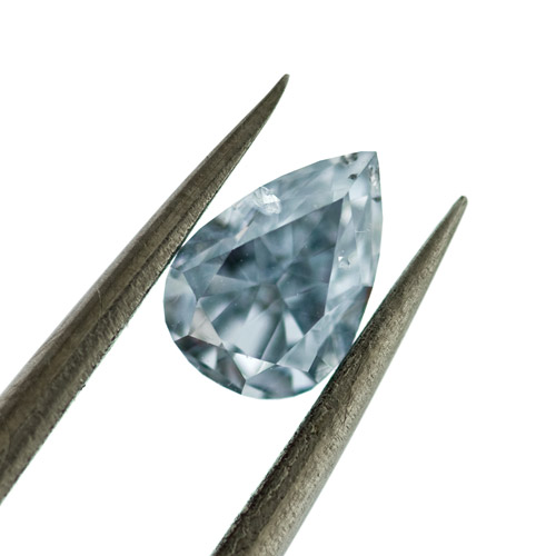 Fancy blue Diamond, Pear, 0.40 carat, SI2