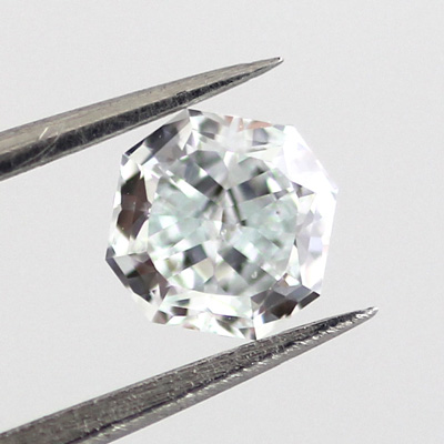 Light Green Diamond, Radiant, 0.42 carat, SI1