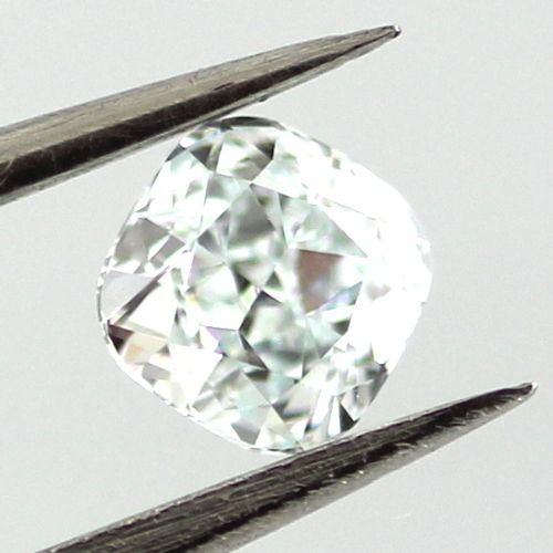 Light Green Diamond, Cushion, 0.30 carat, IF