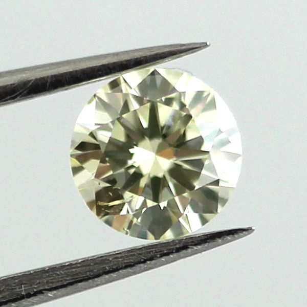 Light Greenish Yellow Diamond, Round, 0.40 carat, SI2