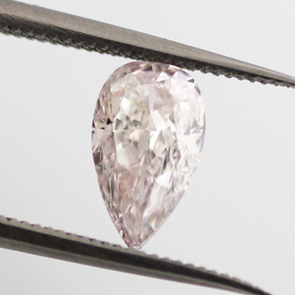 Light Pink (not applicable) Diamond, Pear, 1.02 carat, SI2