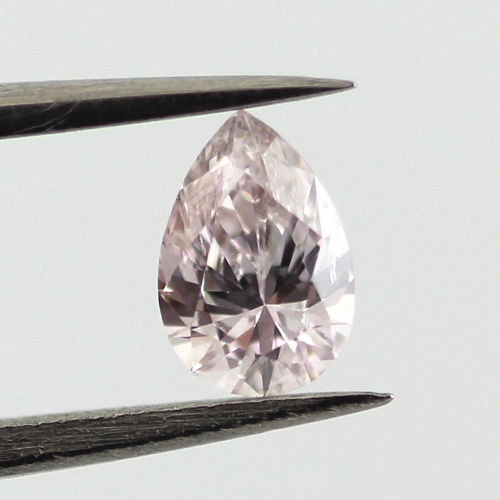 Light Pink Diamond, Pear, 0.22 carat, SI2
