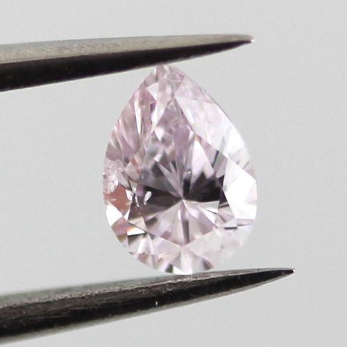 Light Pink Diamond, Pear, 0.24 carat