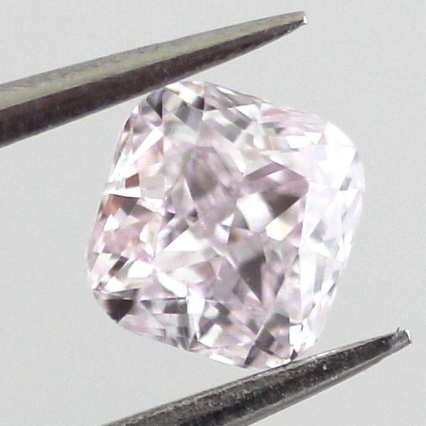 Light Pink Diamond, Cushion, 0.35 carat, SI1