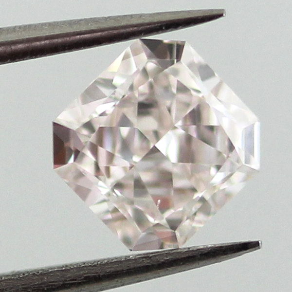 Light Pink Diamond, Radiant, 0.72 carat, VS2