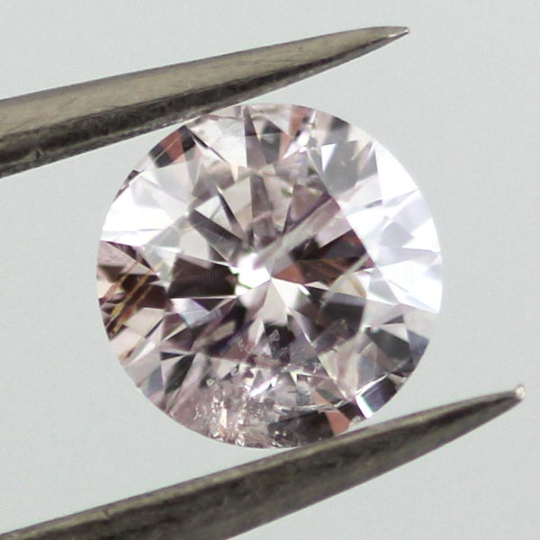 Light Pink Diamond, Round, 0.70 carat