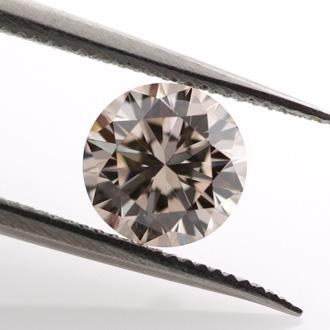 Light Pinkish Brown (not applicable) Diamond, Round, 0.65 carat, VS1
