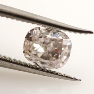 Light Pinkish Brown Diamond, Cushion, 0.53 carat, SI2