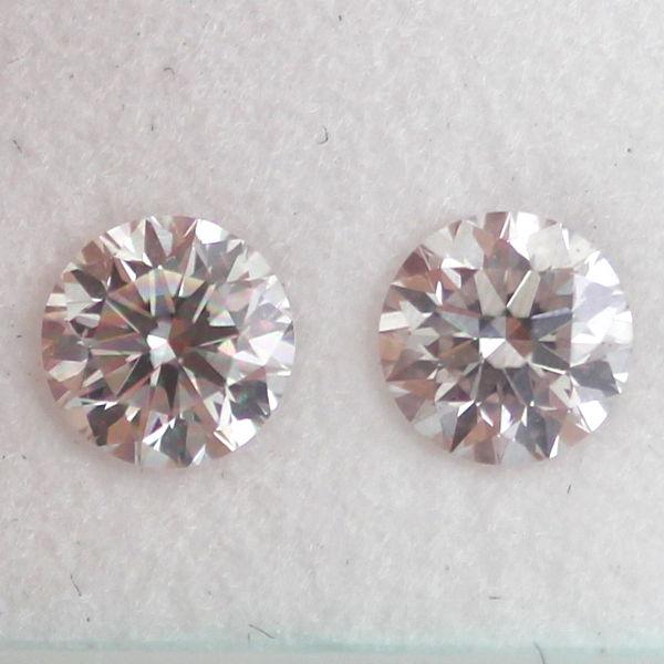 Pair of Faint Pink, 0.64 carat, SI1