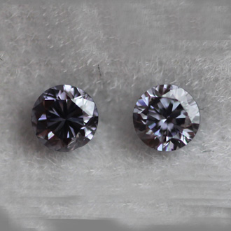 Pair of Fancy Violet, 0.11 carat