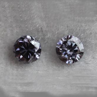 Pair of Fancy Violet, 0.11 carat