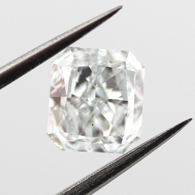 Very Light Blue Diamond, Radiant, 0.71 carat, VS1