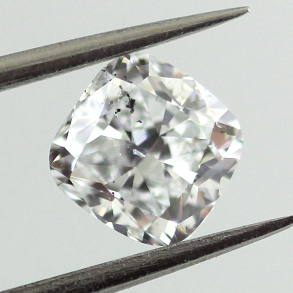 Very Light Blue Diamond, Cushion, 1.00 carat, SI2