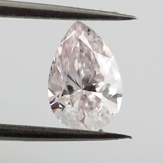 Very Light Pink Diamond, Pear, 0.70 carat, SI2
