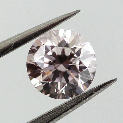 Very Light Pink Diamond, Round, 0.40 carat, SI1