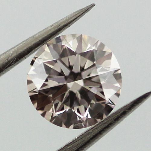 Very Light Pink Diamond, Round, 0.51 carat, VVS2