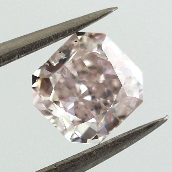 Very Light Pink Diamond, Radiant, 0.88 carat