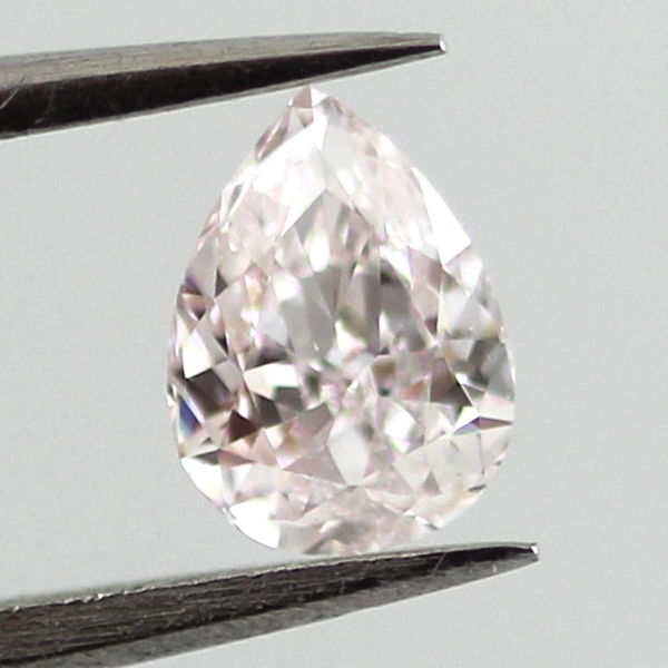 Very Light Pink Diamond, Pear, 0.31 carat, VS1