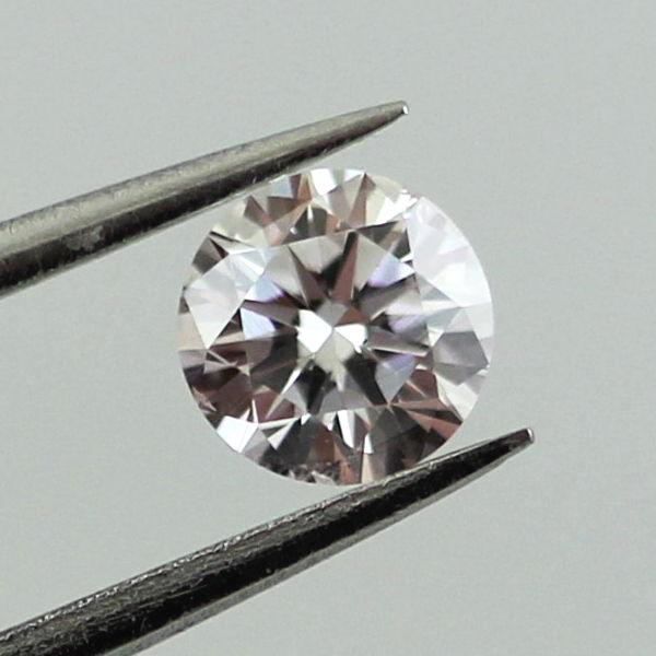 Very Light Pink Diamond, Round, 0.30 carat, SI1
