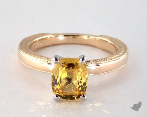 yellow sapphire ring in 14k yellow gold 1.80ct
