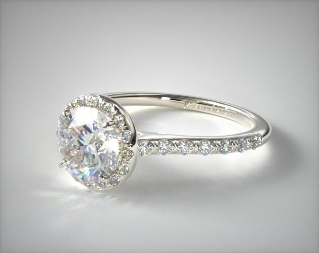 1 carat diamond engagement ring - halo - $1500