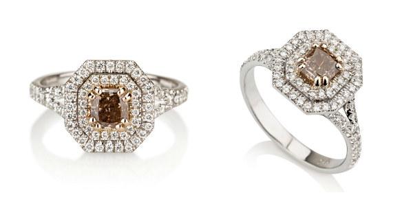 brown diamond engagement ring - Chocolate Wedding Ring