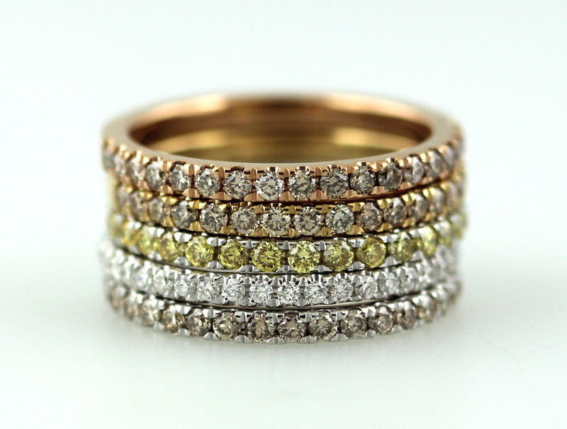 melee diamond engagement rings - Colored Wedding Rings