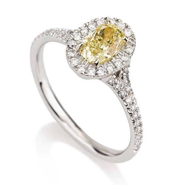 Fancy Yellow Diamond, Oval, 0.75 carat, VVS2 - B