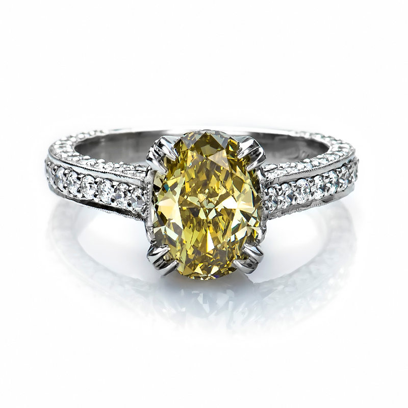 pave yellow wedding ring diamond rings canary