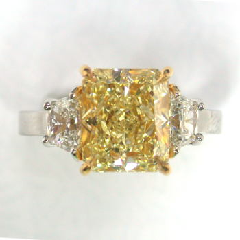 GIA Radiant Fancy Light Yellow Diamond, 4.78 carat