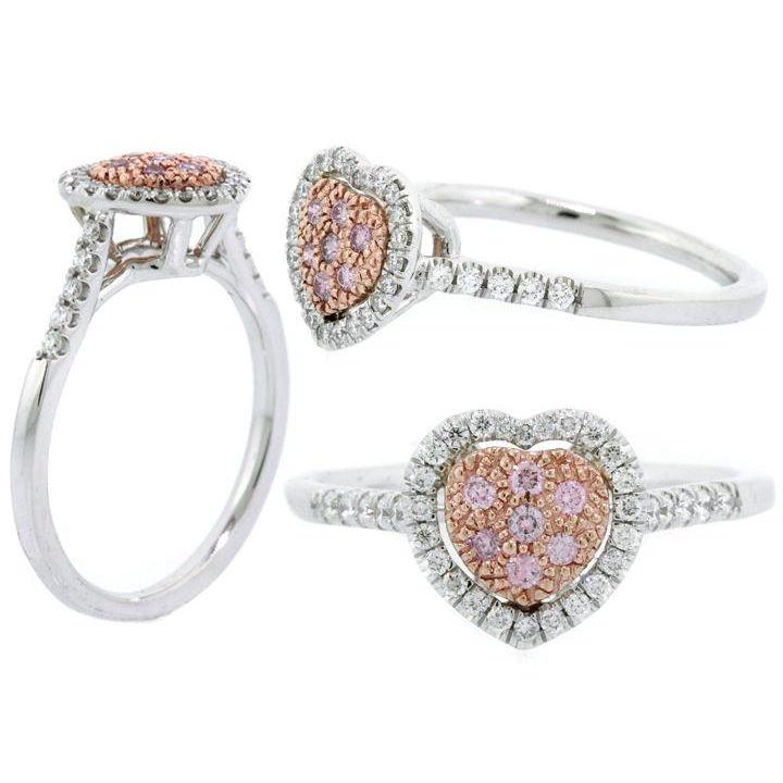 Argyle Purplish Pink Diamond Ring, Round, 0.08 carat, SI1