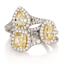 yellow diamond engagement rings - Engagement Ring And Wedding Ring