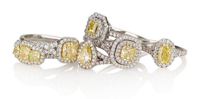 in gold fancy coloured diamond michael ring spiers store white rings