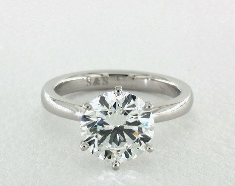 Round 2 carat diamond ring, F VS2 worth $19,385