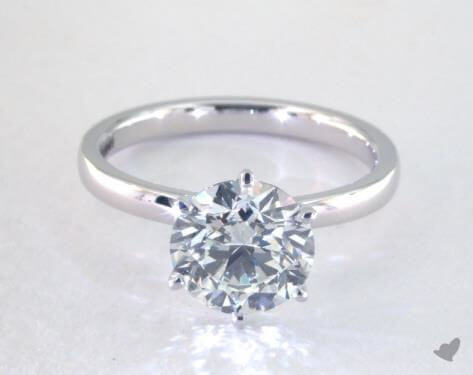 Round 2 carat diamond ring, H VS2 worth $14,775