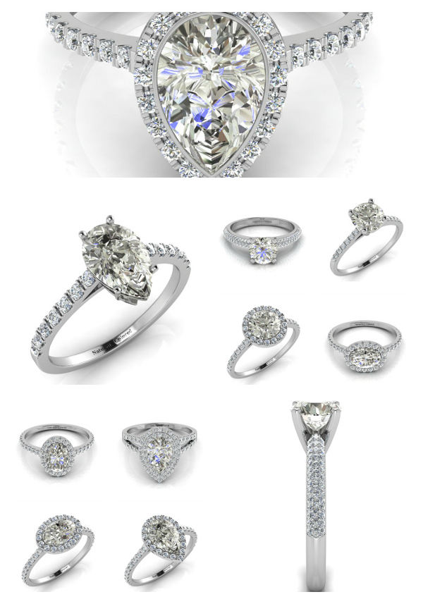 Common Settings for Gray Diamond Rings and Engagement Rings