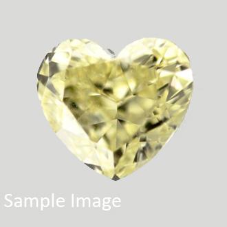 Fancy Vivid Yellow, 0.48 carat