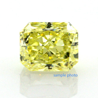 Fancy Intense Yellow, 0.93 carat, VVS1